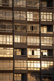 Windows mieszkanie blok Zdjęcie Royalty Free