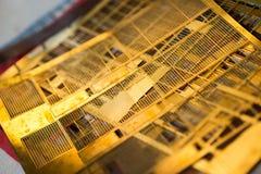 Windows miniature et grils pour les modèles d'échelle architecturaux de bâtiment Images libres de droits