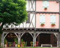 Windows in Mirepoix France Stock Photography