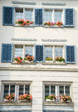 Windows mit Blumen Stockfotos