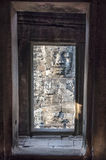Windows mit Statue Stockfoto