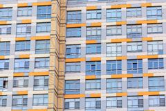 Windows of the modern apartment building. Architecture background or pattern royalty free stock photo