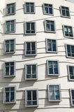 Windows Of A Modern Building. Modern building called the Dancing House (or Fred and Ginger) in Prague, Czech Republic Stock Photos
