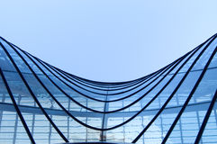 Windows by modern building Royalty Free Stock Photos