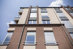 Windows on modern building. And blue sky Royalty Free Stock Image
