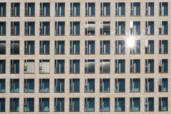 Windows on modern building facade -   architecture, real estate background Royalty Free Stock Image