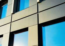 Windows of modern business office building. Concept stock images
