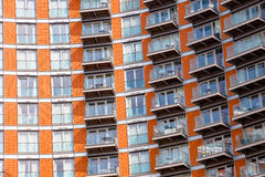 Windows of modern flats. In London Stock Photo