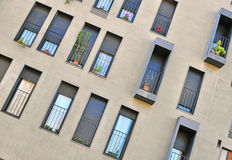 Windows of a modern house Stock Images