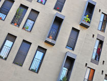 Windows of a modern house Royalty Free Stock Photo