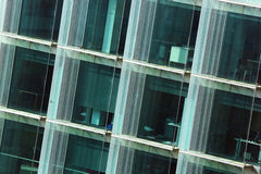 Windows of modern office building in Barcelona, Spain Stock Images