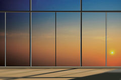 Windows in modern office building Royalty Free Stock Images