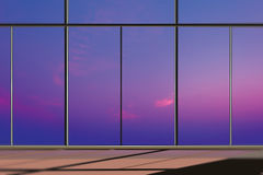 Windows in modern office building Stock Images