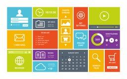 Windows 8 modern UI design layout royalty free illustration
