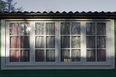 Windows of a Moluccan barracks in Dutch Open Air Museum in Arnhem Stock Photography