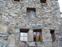 Windows on mountain hut Murowaniec in High Tatras, Poland Royalty Free Stock Image