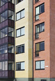 Windows of a multiroom apartment house Royalty Free Stock Image
