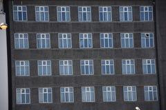 Windows municipale tradizionale di Reykjavik, Islanda Immagine Stock Libera da Diritti