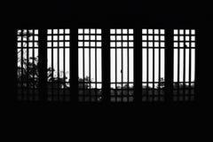 Windows na Chińskiego stylu budynku obrazy stock