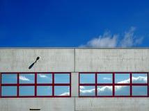 Windows na construção industrial Foto de Stock Royalty Free