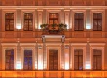 Windows na nocy fasadzie Kempinski Hotelowy Moika 22 Zdjęcia Royalty Free