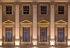 Windows na nocy fasadzie Mariinsky pałac Zdjęcie Stock