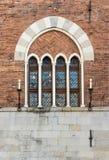 Windows na San Pałac Giorgio, Genua Zdjęcia Royalty Free