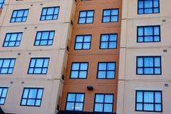 Windows na wielkim budynku Obrazy Royalty Free