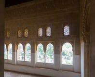 Windows of   Nasrid Palaces, Alhambra.  Granada Royalty Free Stock Photography