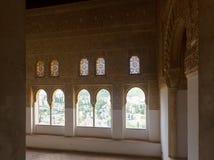 Windows of   Nasrid Palaces, Alhambra Stock Photography