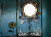 Windows in nave da guerra Fotografia Stock