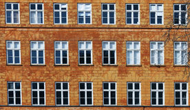 Windows nelle righe Fotografie Stock