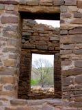 Windows nelle rovine Immagini Stock Libere da Diritti