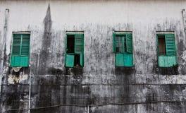 Windows nello stato differente di apertura Fotografia Stock Libera da Diritti