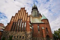 Windows in neo-Gothic, Evangelic church Royalty Free Stock Photo