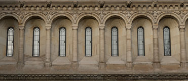 Windows in Neo-Gothic style royalty free stock images