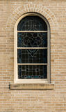 Windows in  Neo-Gothic style whith mosaic Royalty Free Stock Photos