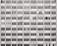 Windows of a new building in black and white. Windows of a new building ready for owners to move in Stock Images