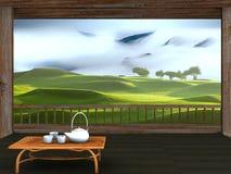 Windows with nice view Royalty Free Stock Photos