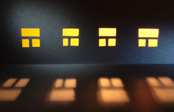 Windows In The Night Royalty Free Stock Photos