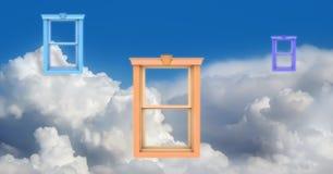Windows no céu imagens de stock royalty free