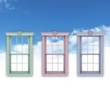 Windows no céu azul Fotos de Stock Royalty Free