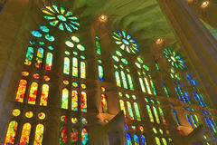 Windows no La Sagrada Familia Fotografia de Stock