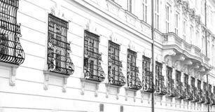 Windows no palácio de Schonbrunn, Viena, Áustria Imagens de Stock