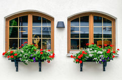 Windows a Oberstdorf, Germania Fotografie Stock Libere da Diritti