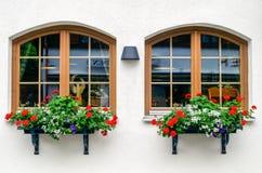Windows in Oberstdorf, Germany Royalty Free Stock Photos