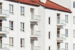 Windows och balkonger arkivfoto