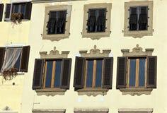 Windows och slutare Forence Italien Arkivfoton