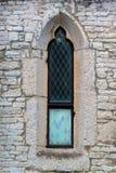Windows och terrasser på forntida byggnader royaltyfri foto