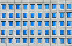 Windows of office building. Pattern of windows of office building stock image